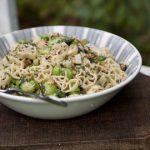 Rotelline Pasta, Broad Beans, Asparagus & Pesto