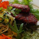 A Vegetarian Treat: Beetroot, Potato & Apple Latkes