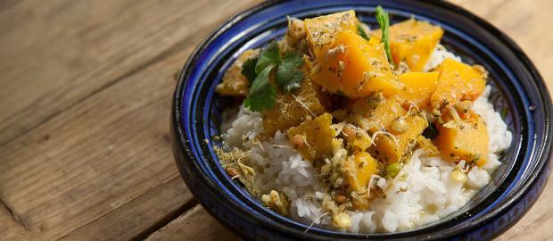 Seasonal Recipe Ideas: Green Thai Squash Curry