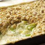 Instead of Cauliflower: Leek & Cheddar Cheese Crumble