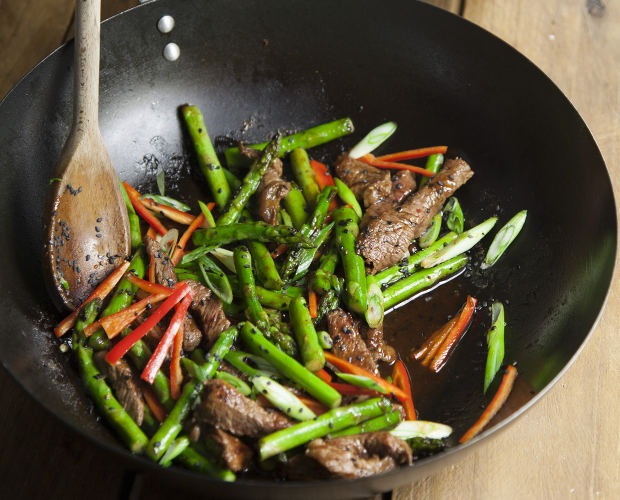 Steak and asparagus stir fry jasmine rice foodlover stir fry ccuart Gallery