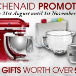 Over £300 of free gifts in Harts of Stur KitchenAid offer