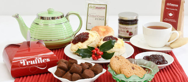 A personalised Christmas cream tea, with French truffles