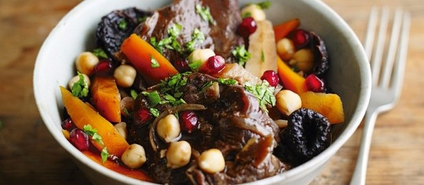 North African spiced beef and root vegetable stew