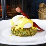 Potato rosti, poached eggs & hollandaise