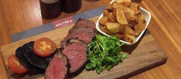 Steak and wine offer at Walter's Bar & Grill, Bristol