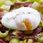 Three celery salad with ham hock