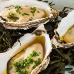 Oysters with ale vinaigrette