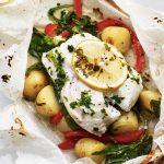 Baked New Potatoes & Cod En Papillote