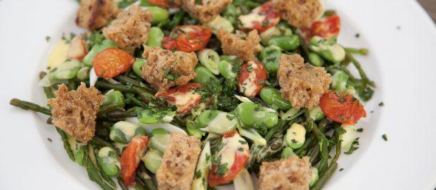 Samphire, Broad Bean & Cherry Tomato Salad