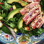 Seared Tuna Steak Salad with Ginger & Lime Vinaigrette