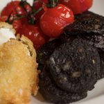 Crispy Free Range Egg, Roasted Vine Tomatoes & Black Pudding