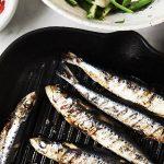 Grilled Sardines with Fennel, Asparagus & Olive Salad