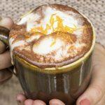 Celtic Coffee with Pumpkin Pie Cream