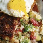 Parsnip, Brussel Sprout & Bacon Potato Cakes