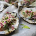Fiery Oysters with Tarragon Sauce