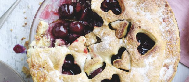 Cherry and bay pie