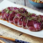 Beef Tataki with Ponzu-Style Dressing & Vegetables