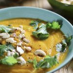 Caramelised Carrot, Coriander & Cashew Soup