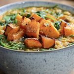 Roast Butternut Squash, Spinach & LentilDhal