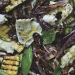 Grilled salad of Courgette, Radicchio & Mozzarella