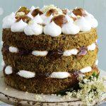 Courgette, Gooseberry & Elderflower Layer Cake