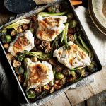 Baked Miso Cod, Mushrooms & Sprouts