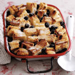 Blueberry Bread & Butter Pudding