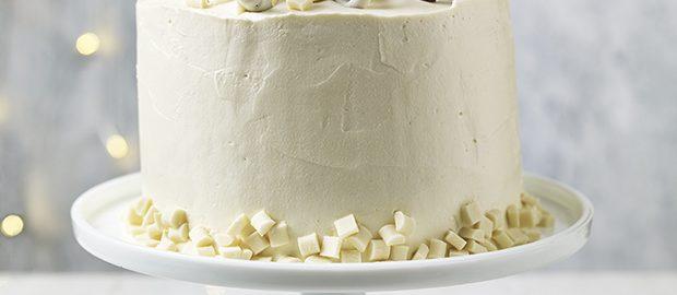 White Chocolate, Tahini and Pretzel Cake